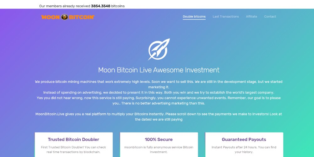 Moon Bitcoin Live Investment