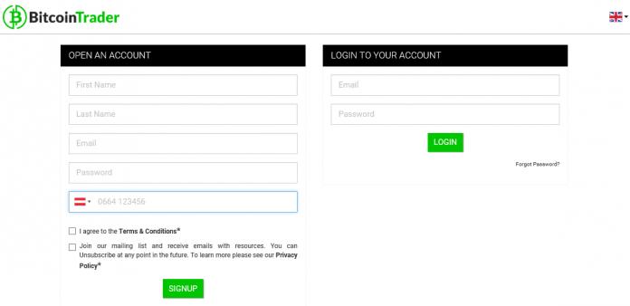 BTC Trader registration
