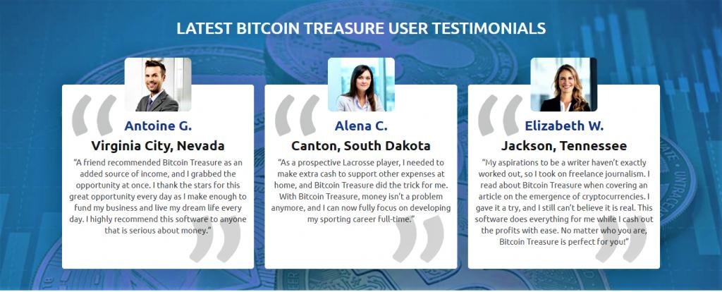Bitcoin Treasure testimonies